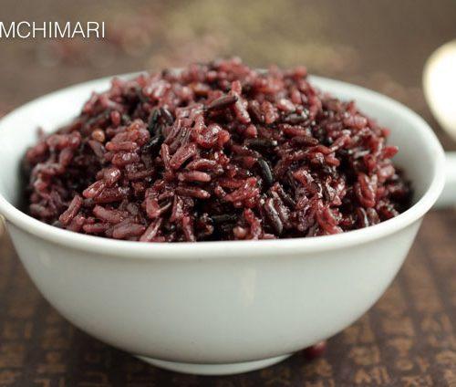 Korean Purple Rice Or Black Rice Heukmi Bap Kimchimari