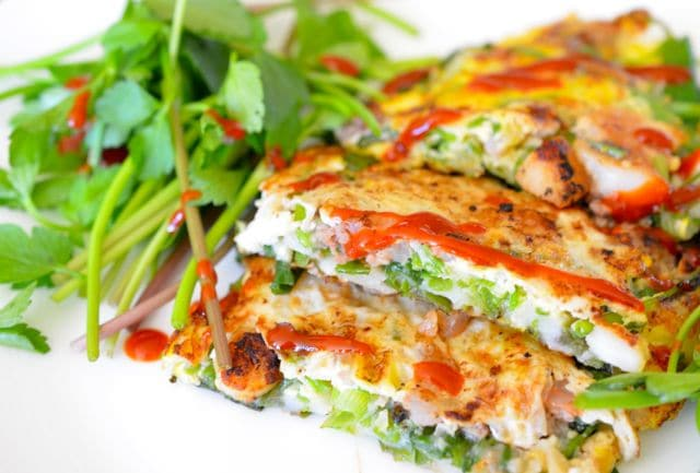 Korean Scallion Seafood Pancake