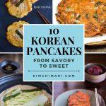 Korean pancake recipes collage
