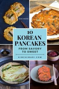 Korean pancake recipes collage