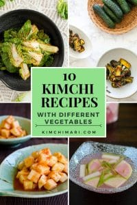 photo collage for 10 Kimchi Recipes