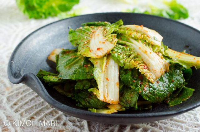 Fresh Kimchi Salad with Spring Cabbage