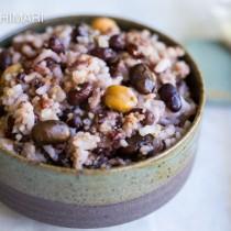 Bowl of korean mixed multigrain rice