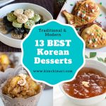 photo collage of best korean desserts