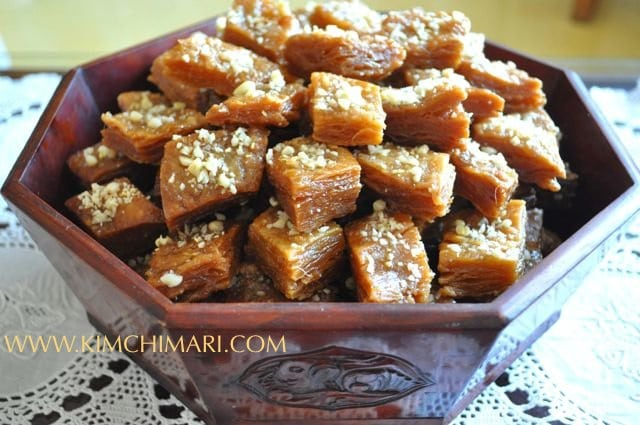 Yakwa Korean honey pastry