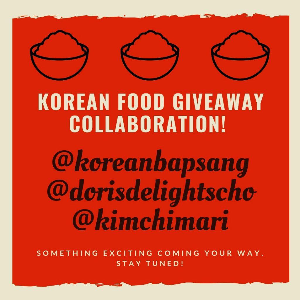 Korean Food Blogger collaboration giveaway