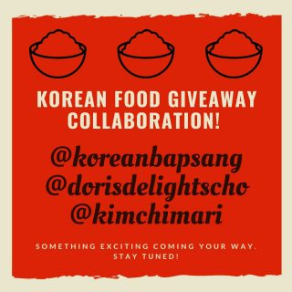 Korean Food Blogger collaboration giveaway