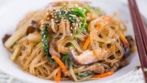 Best Japchae (Korean Glass Noodles) - Authentic and Amazing | Kimchimari