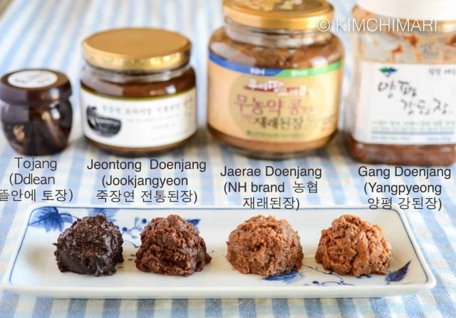 Different Types of Doenjang