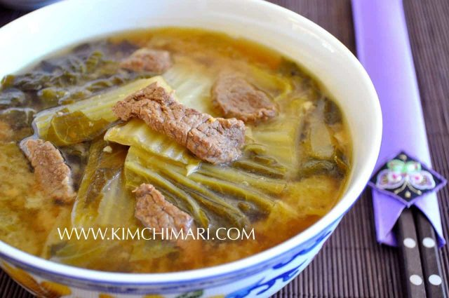 Cabbage Soybean Paste Soup (Baechu Doenjang Guk)