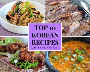 Collage image of top 10 popular Korean recipes
