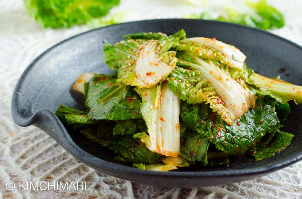 Fresh Kimchi Salad with Spring Cabbage (Bomdong Geotjeori)