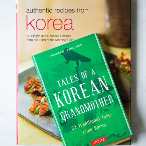 Korean cookbook and Grandmother tales book for Korean book Giveaway