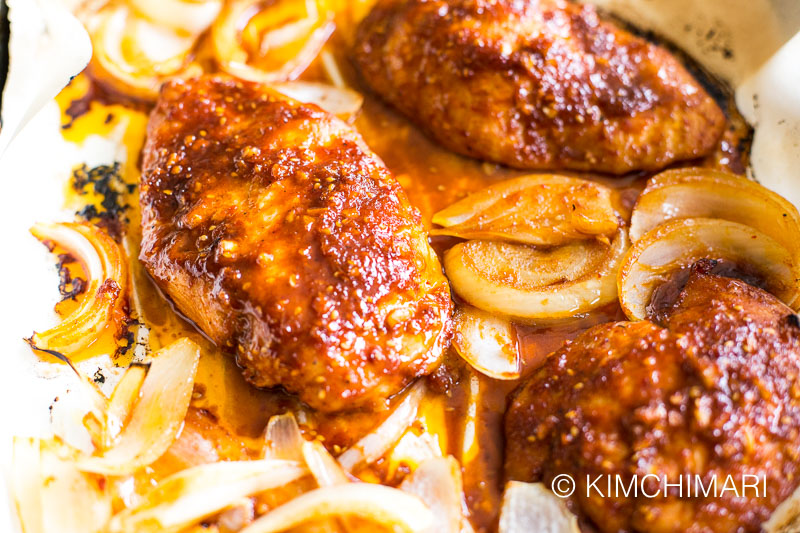 Korean Spicy Chicken with Gochujang (Oven Baked)