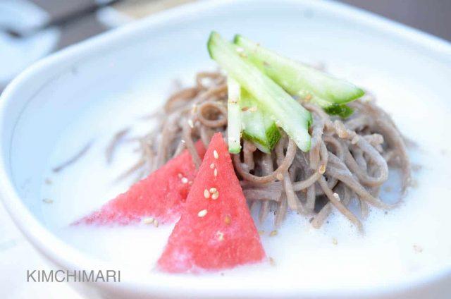 Cold Soy Milk Noodle Soup (Kongguksu)