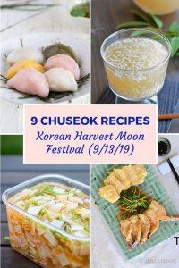 chuseok recipe pin