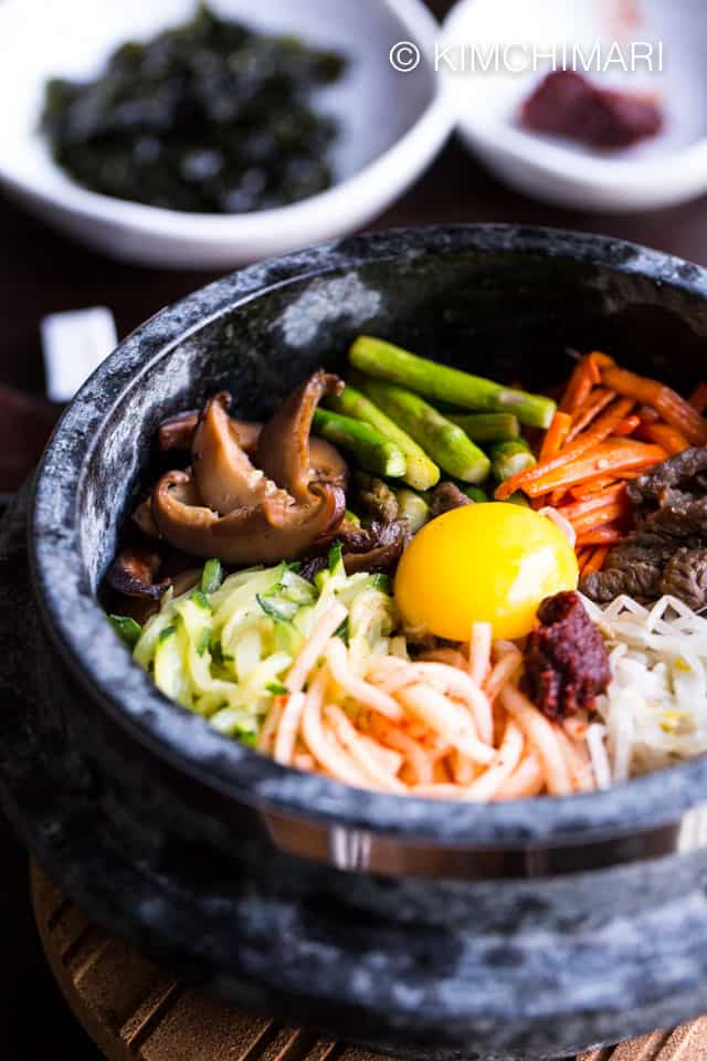 Dolsot Bibimbap - Korean Stone Pot Rice Bowl