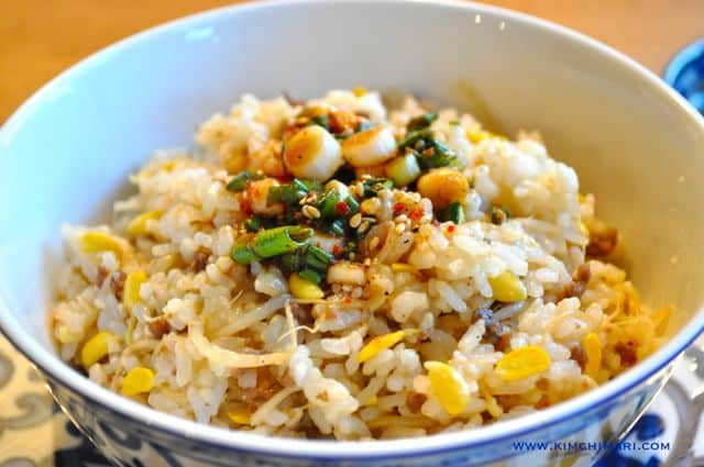 Kongnamul Bap - Rice with Korean Soybean Sprouts