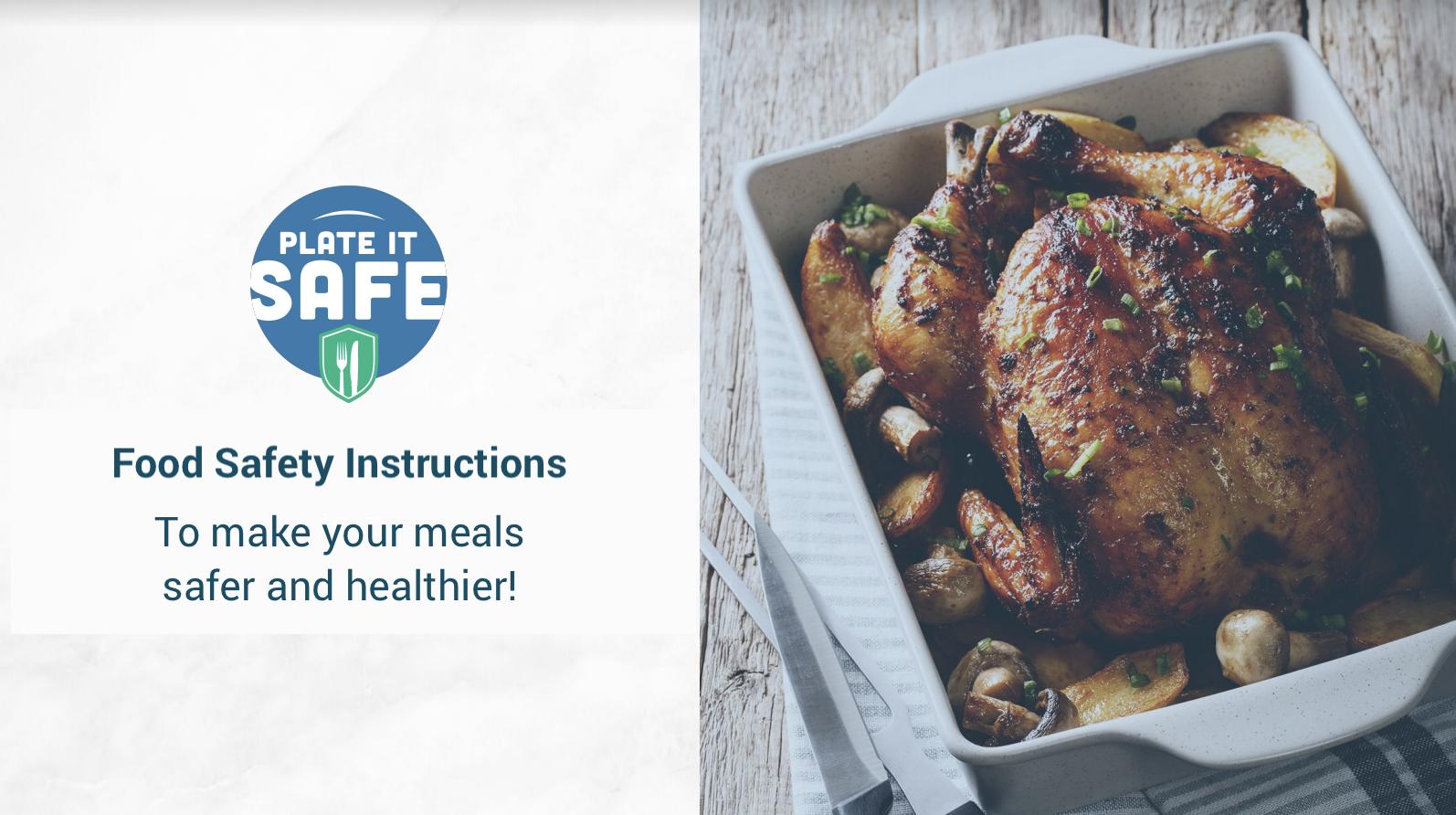 food safety - plate it safe image