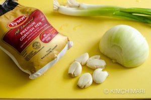 ingredients for Korean chicken soup