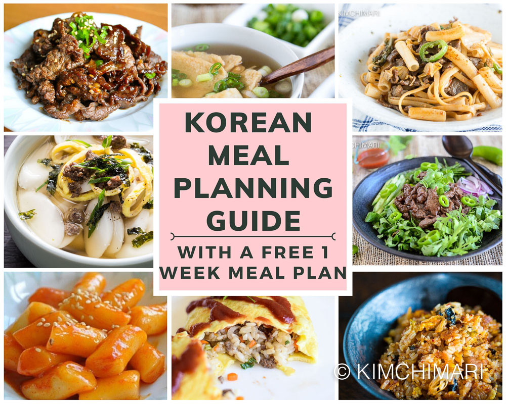 Korean Meal Planning Guide