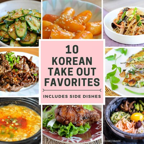 collage image of 8 out of 10 top korean take out favorites