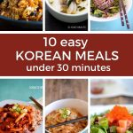 10 korean meals collage image pin