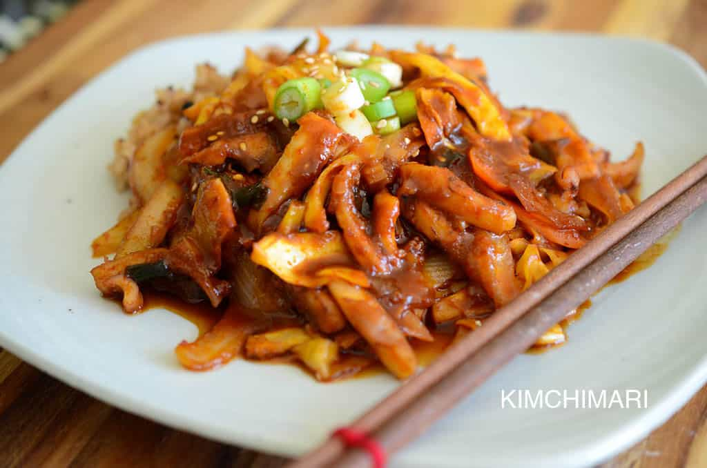 Ojingeo Bokkeum (Spicy Squid Stir-Fry)