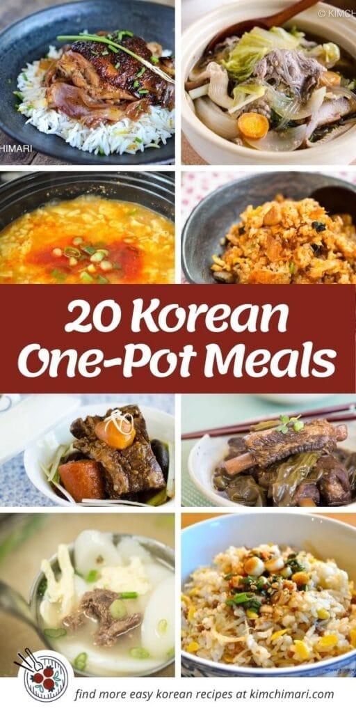 20 korean one-pot meals pin