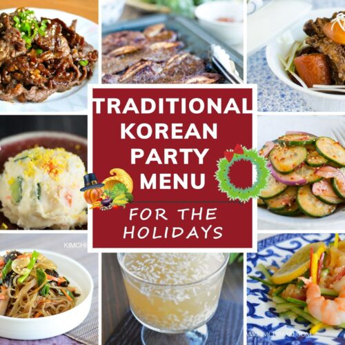 korean party menu ideas for holidays