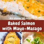 baked salmon with mayo pin